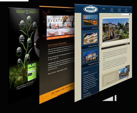 Custom designed website